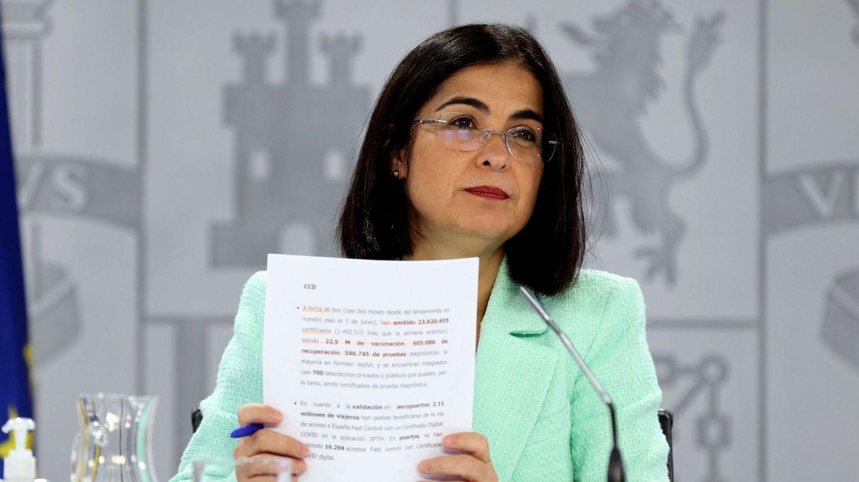 La ministra de Sanidad, Carolina Darias. (EFE)