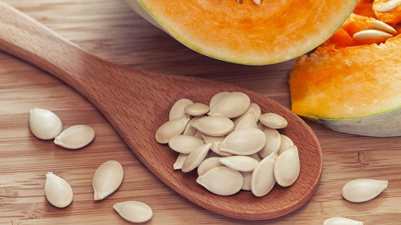 Las pipas de calabaza son ricas en proteínas vegetales.