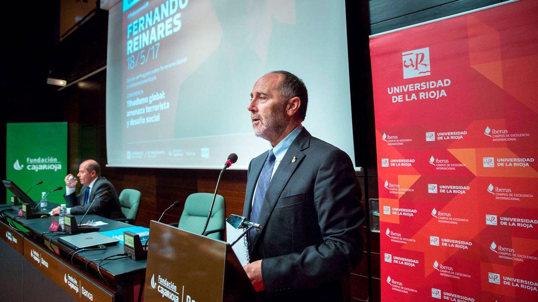 Reinares durante una conferencia en Logroño organizada por la Universidad de La Rioja. (EFE)