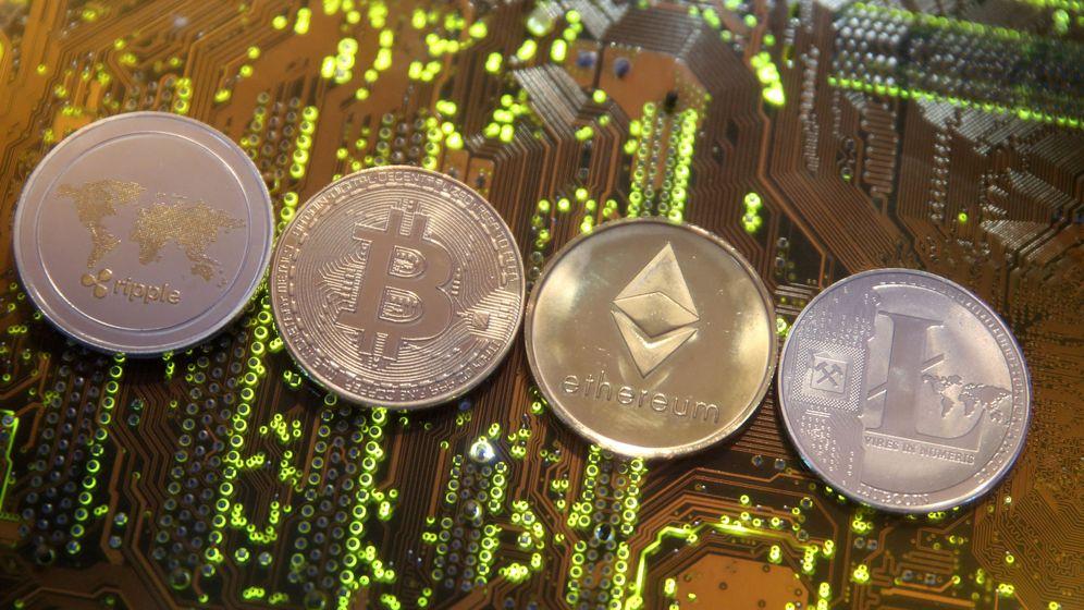 Foto: Representación de ripple, bitcoin, ethereum y litecoin. (Reuters)