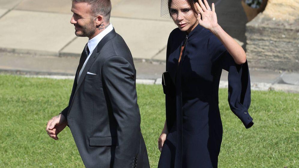 Foto:  David y Victoria Beckham, en la boda de Harry y Meghan. (Gtres)