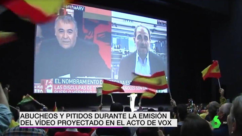 Antonio G. Ferreras, en el vídeo de Vox. (Atresmedia)