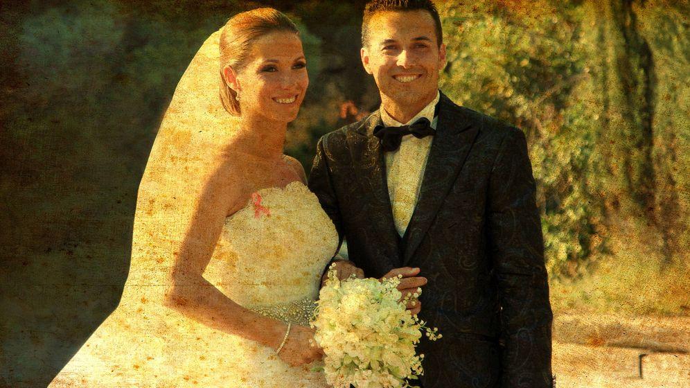 Foto: Pedro y Carolina el día de su boda. (Vanitatis)