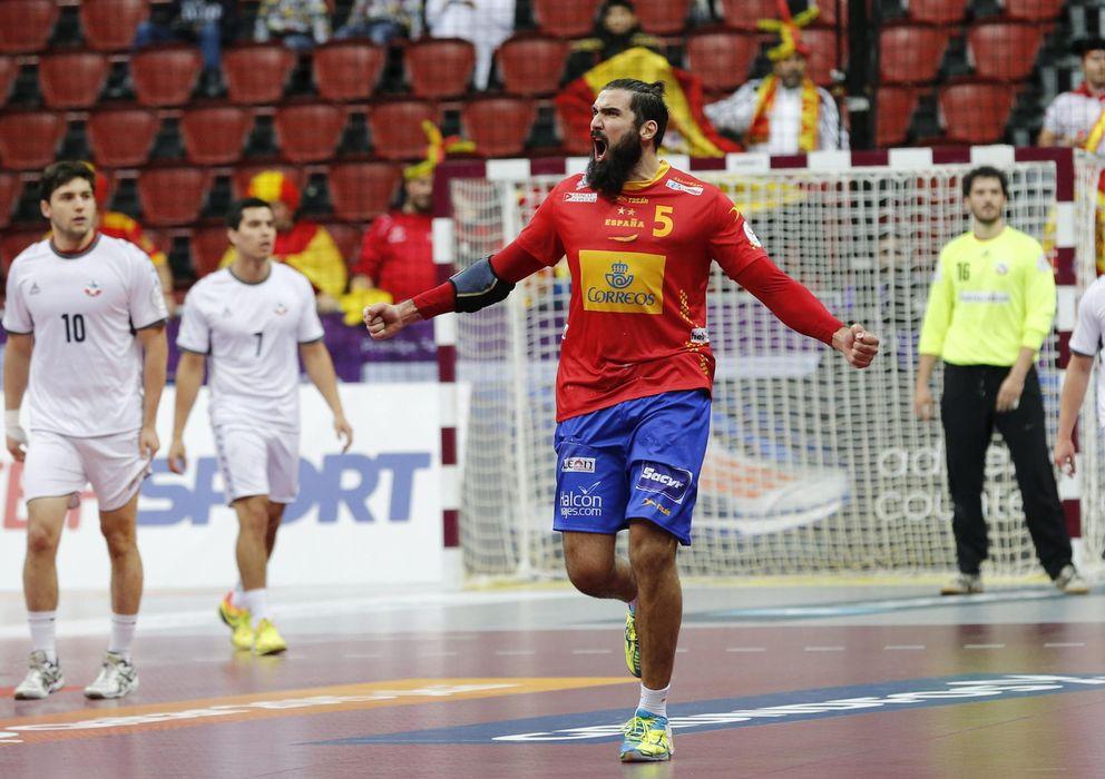 Foto: Maqueda celebra un gol con España ante Chile (Efe).
