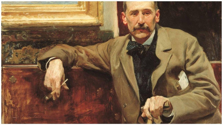 Retrato de Benito Pérez Galdós por Joaquín Sorolla. (Casa-Museo de Benito Pérez Galdós)