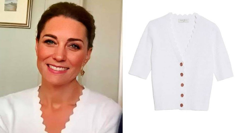 Kate Middleton y su jersey de Sandro.