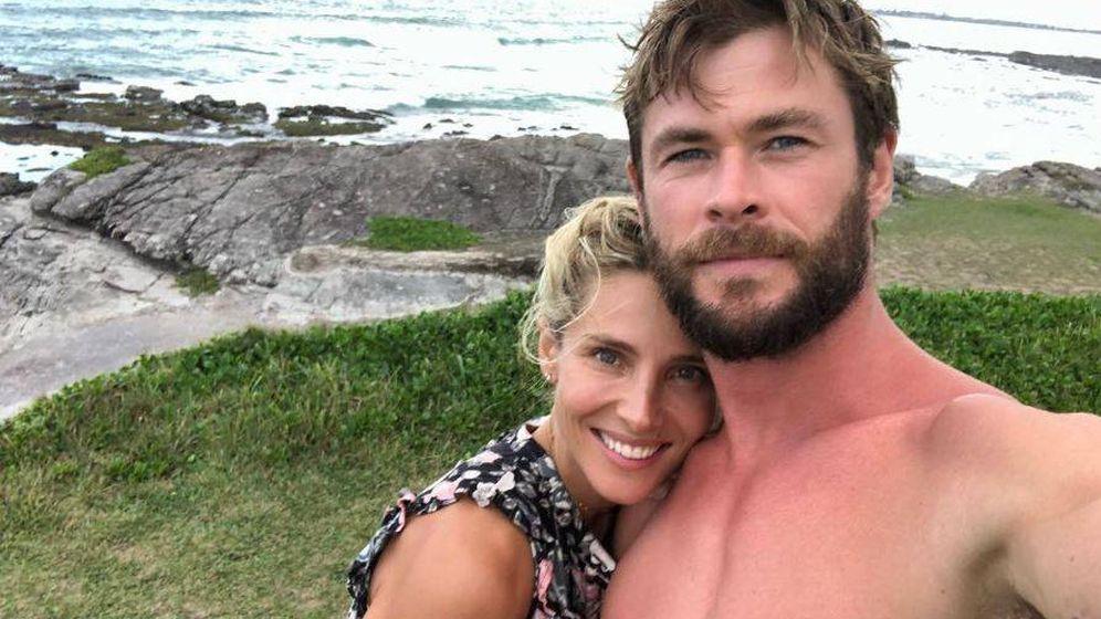 Foto: Elsa Pataky y Chris Hemsworth en una imagen de Instagram en Byron Bay.