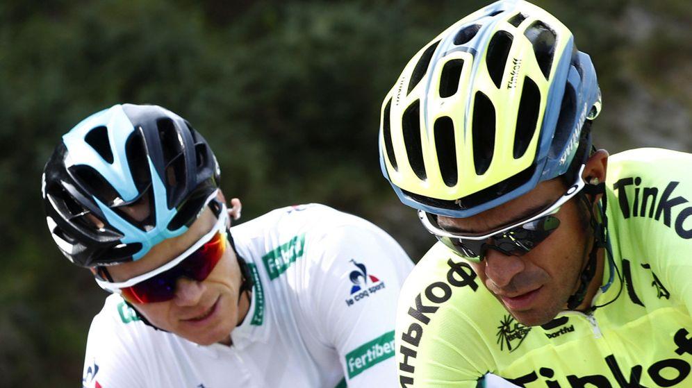 Foto: Froome junto a Contador en la pasada Vuelta. (EFE)