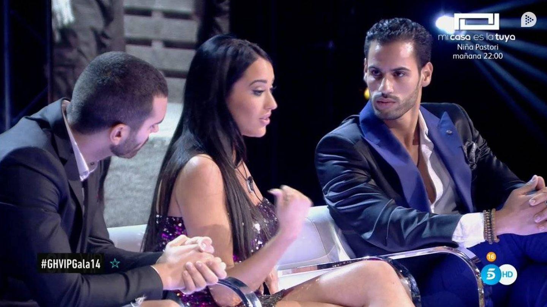 Asraf, en su encuentro con Aurah y Suso en 'GH VIP 6'. (Telecinco)