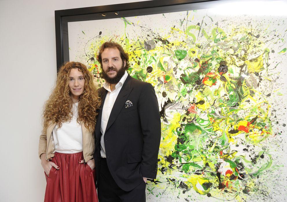 Foto: Blanca Cuesta y Borja Thyssen en la exposición el pasado mes de enero (Gtres)