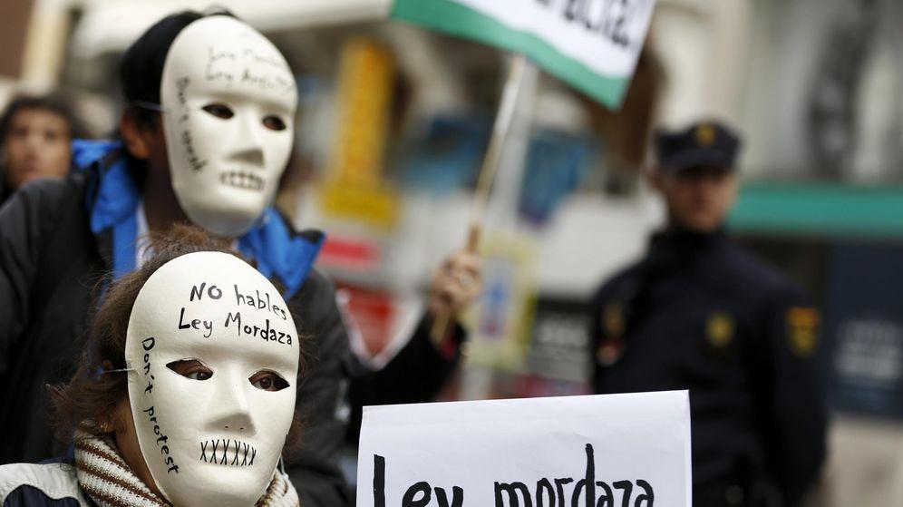 Foto: Manifestación el pasado mes de diciembre contra la 'ley mordaza' del Gobierno del Partido Popular. (Reuters)