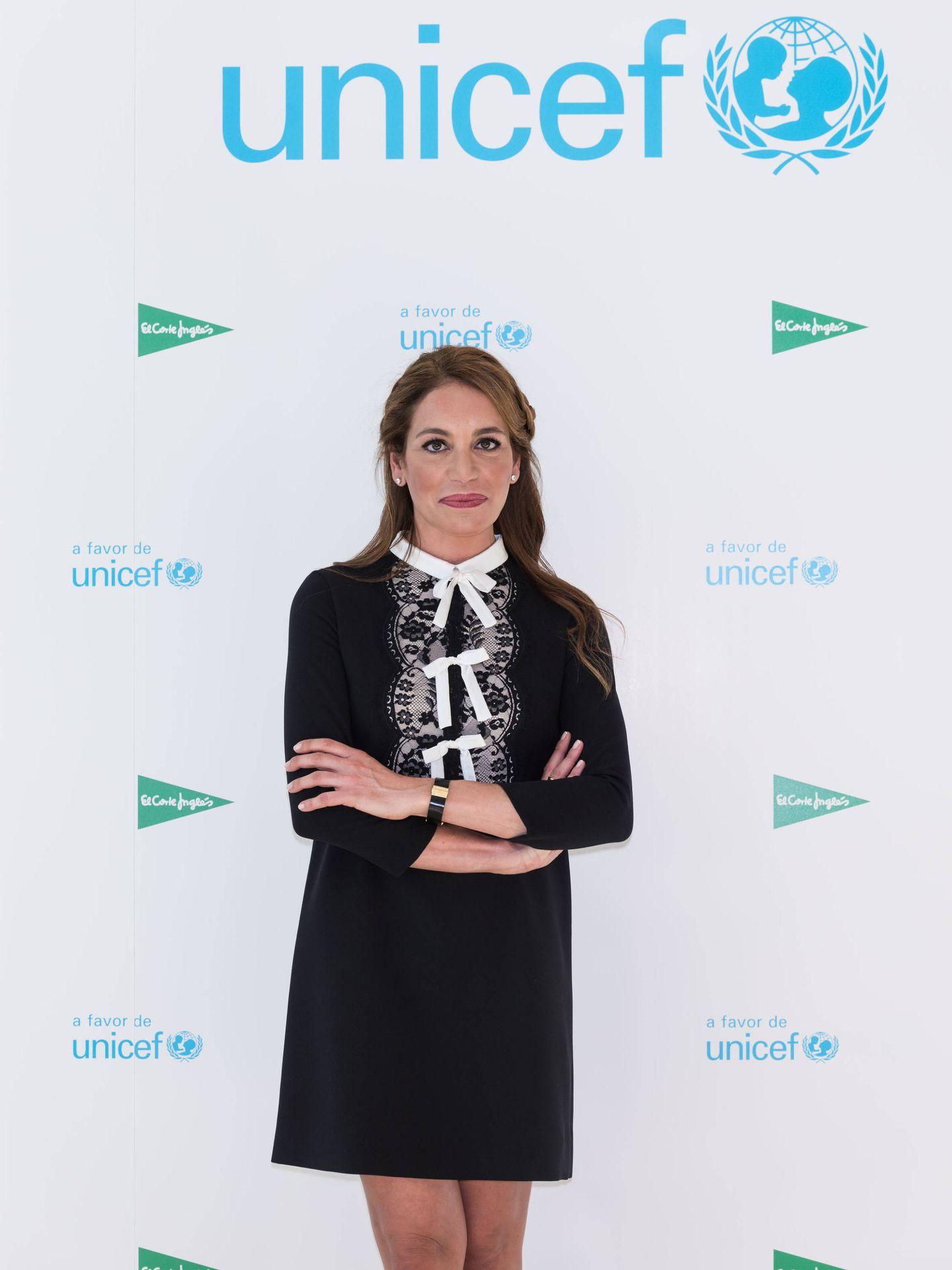 Gemma Ruiz durante el evento de Unicef en el Corte Inglés.
