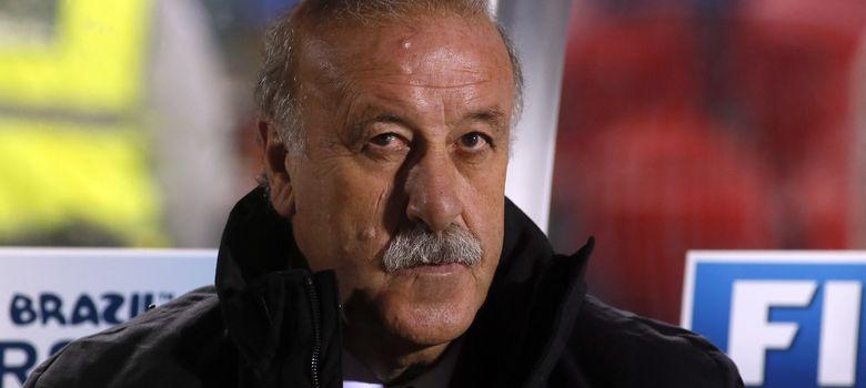 Foto: Vicente del Bosque, durante un momento del partido ante Bielorrusia.