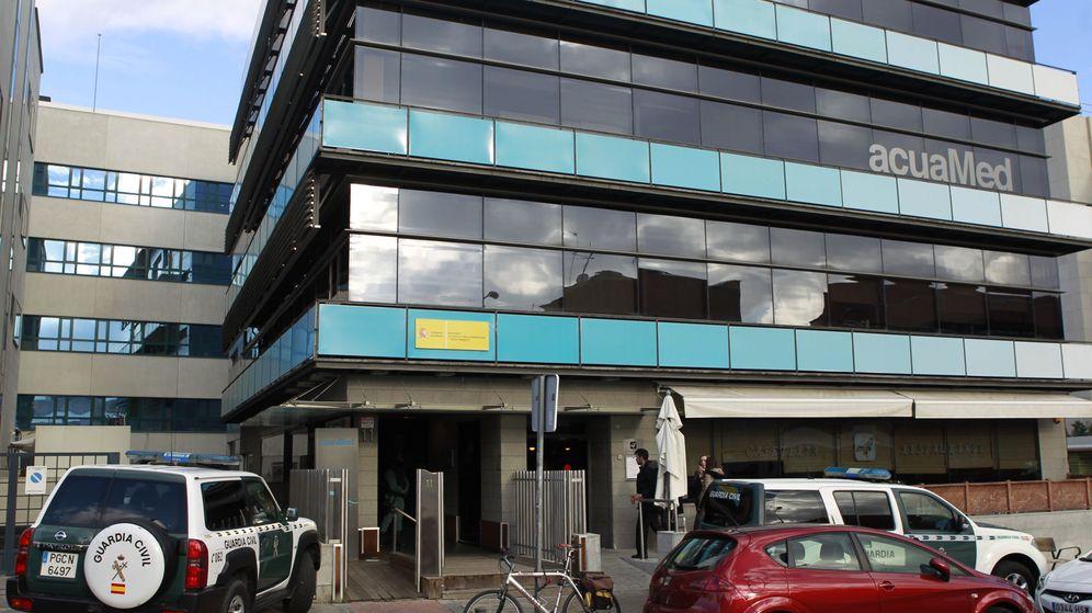 Foto: La Guardia Civil registra la sede de Acuamed. (EFE)