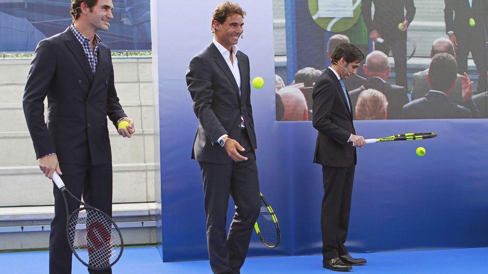 Foto: Nadal inauguró este miércoles, junto a Federer, su academia en Manacor (J. Grappelli/EFE)