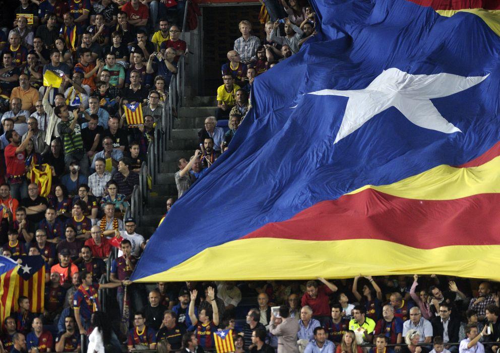 Foto: La bandera independentista volverá a verse en las gradas del Camp Nou.