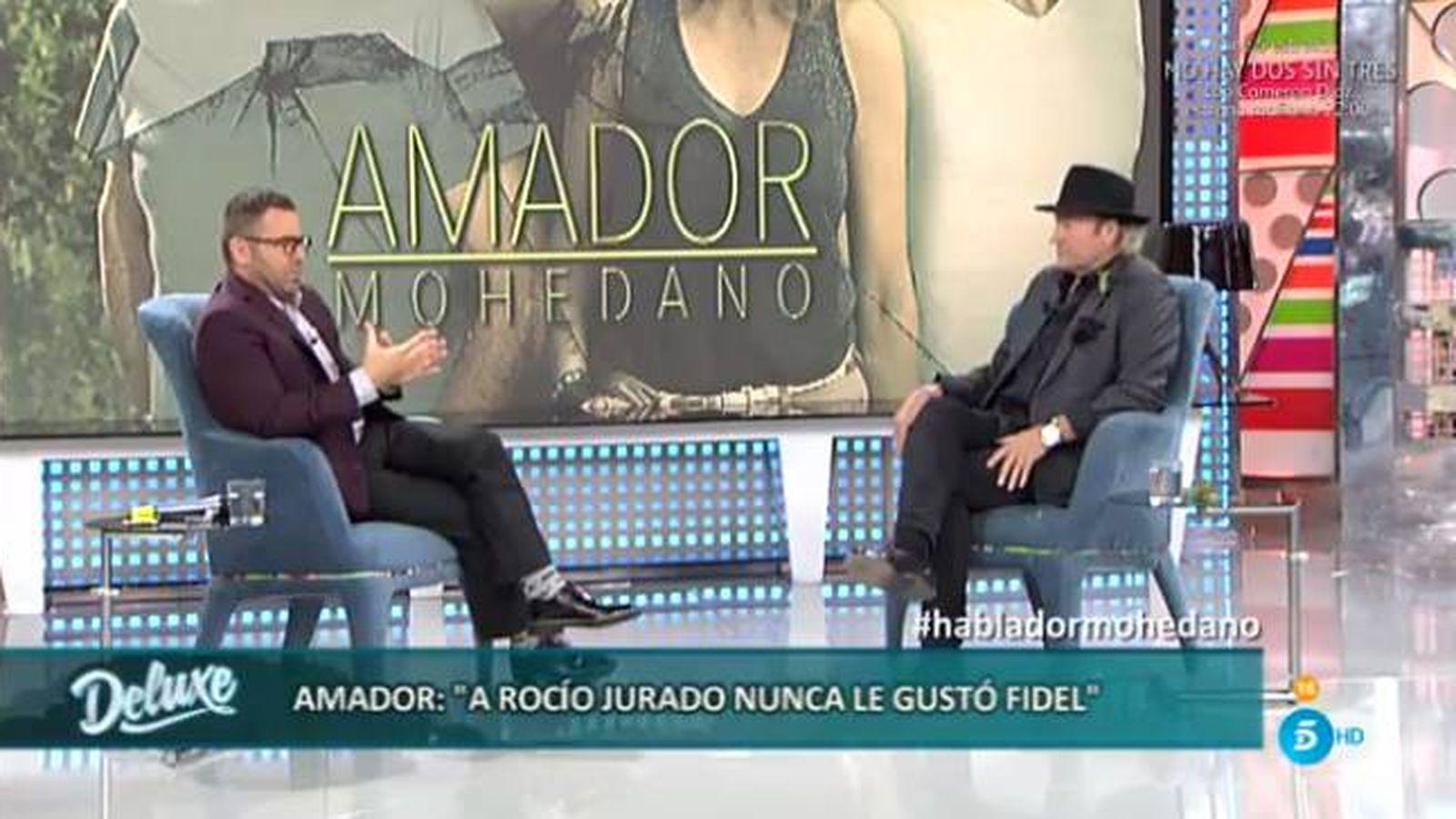 Foto: Amador Mohedano habla sobre Fidel Albiac en 'Sálvame Deluxe'