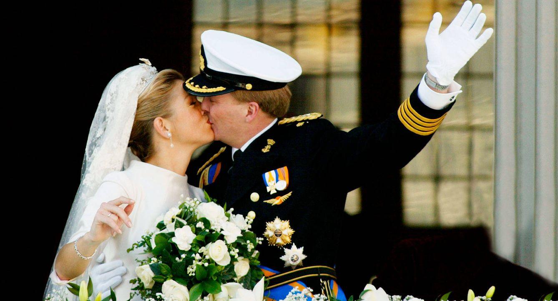 Foto: Máxima y Guillermo de Holanda el día de su boda. (Getty)