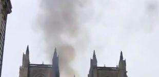 Post de Declarado un incendio de consideración en el interior de la catedral de Nantes