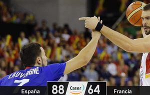 España se toma la revancha con una paliza por más de 20 puntos a Francia