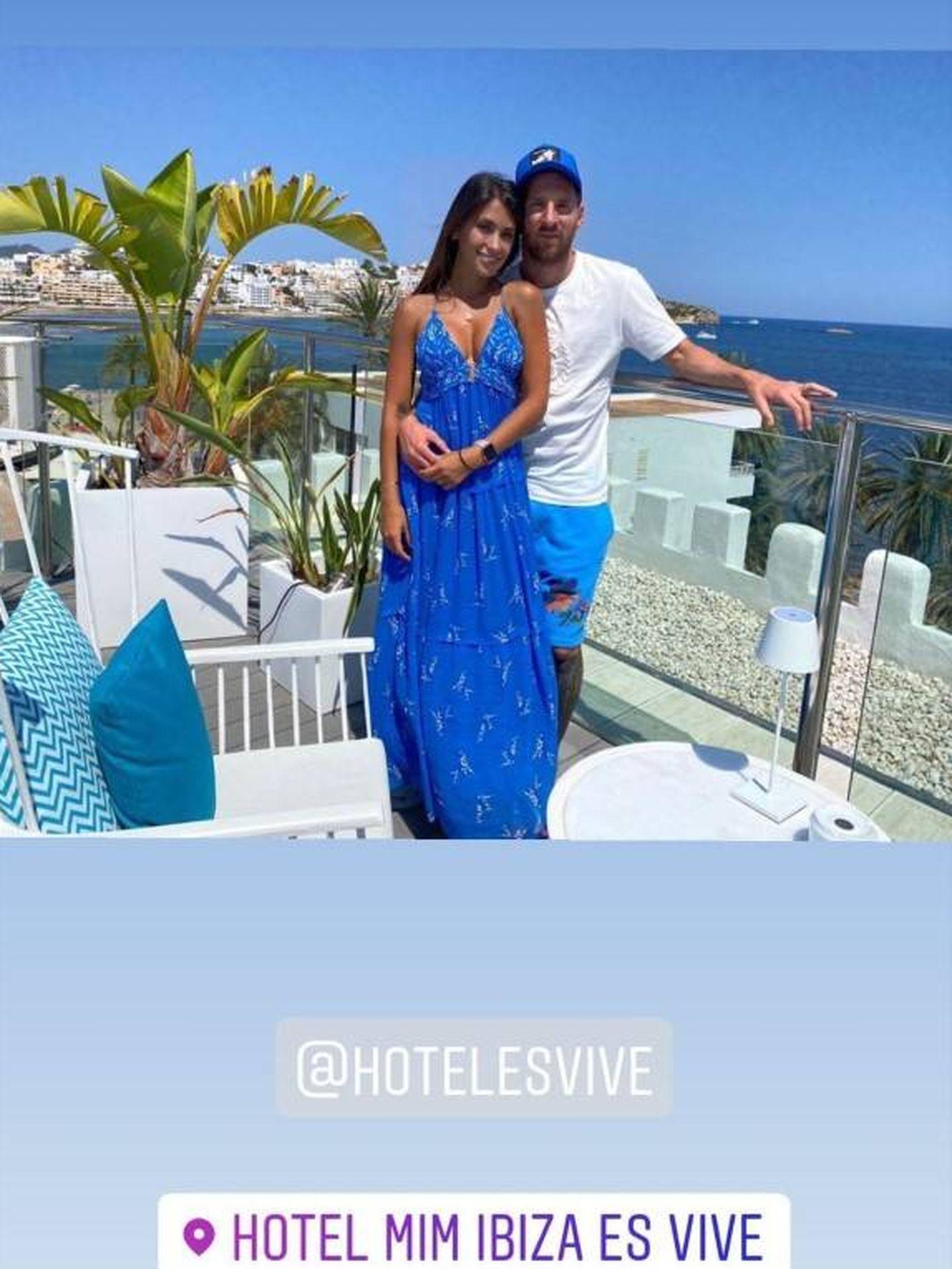 Messi promociona su hotel en Ibiza. (Instagram)