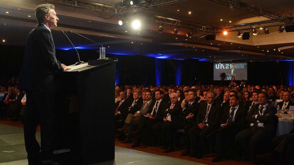 Foto: El presidente de Argentina, Mauricio Macri, se dirige a los empresarios en Buenos Aires. (EFE)