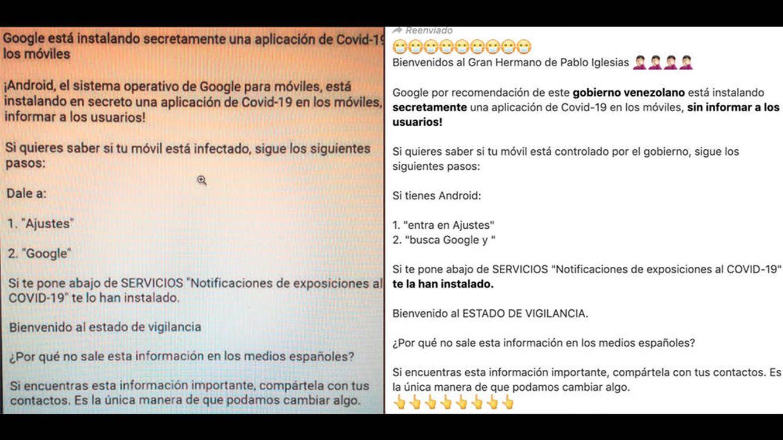 No, Google no instala una 'app' en tu móvil por el covid-19: el bulo de las notificaciones
