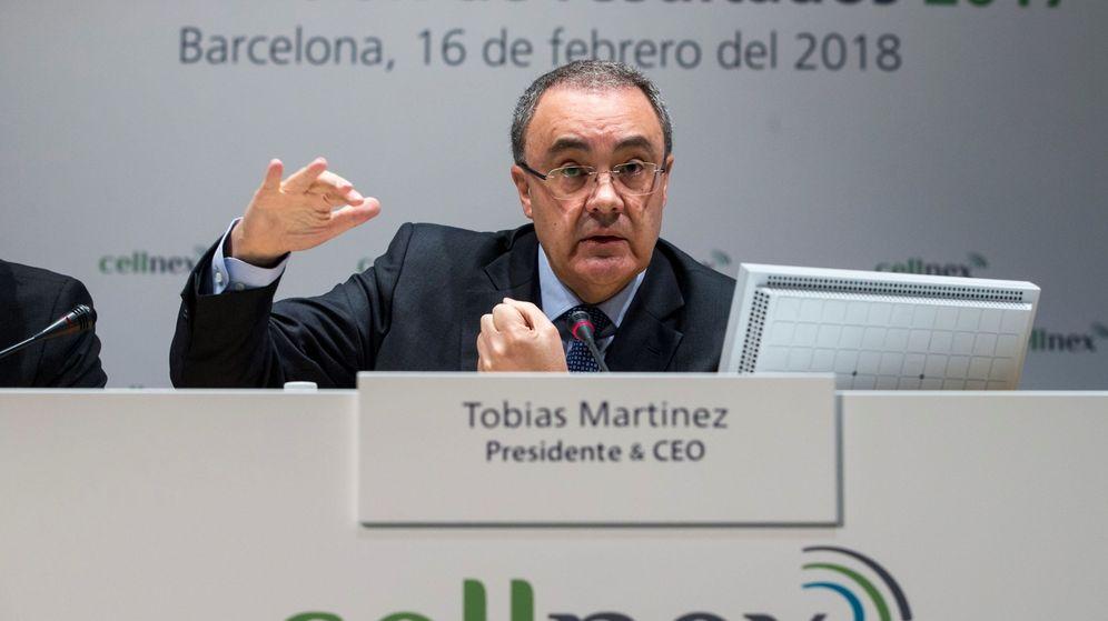 Foto: El primer ejecutivo de Cellnex, Tobías Martínez. (EFE)