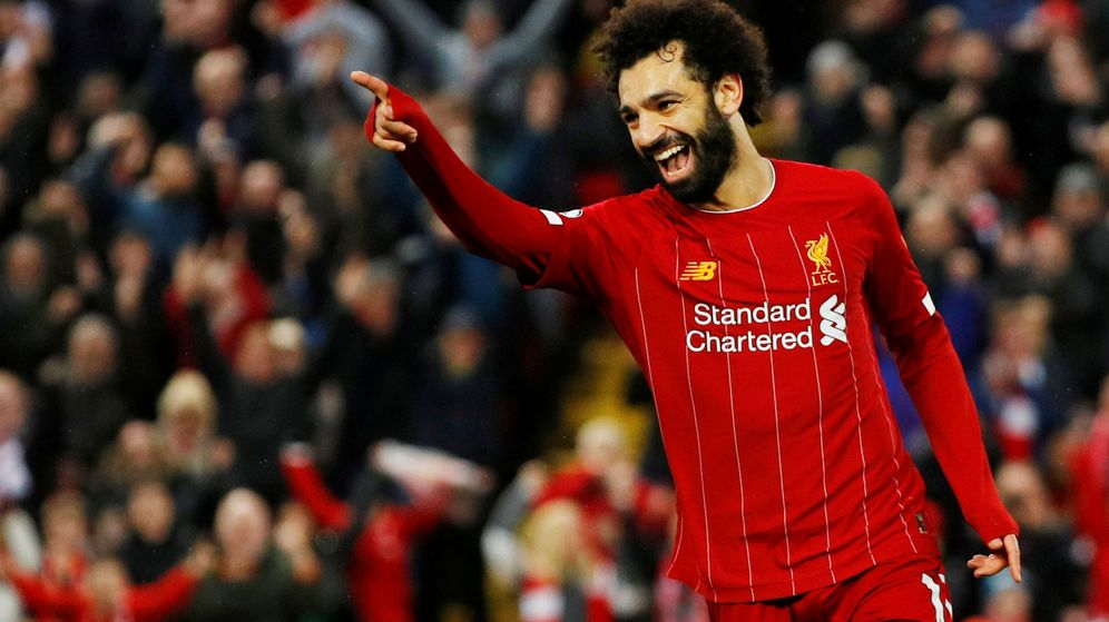 Foto: Mohamed Salah celebra un gol con el Liverpool. (Reuters)
