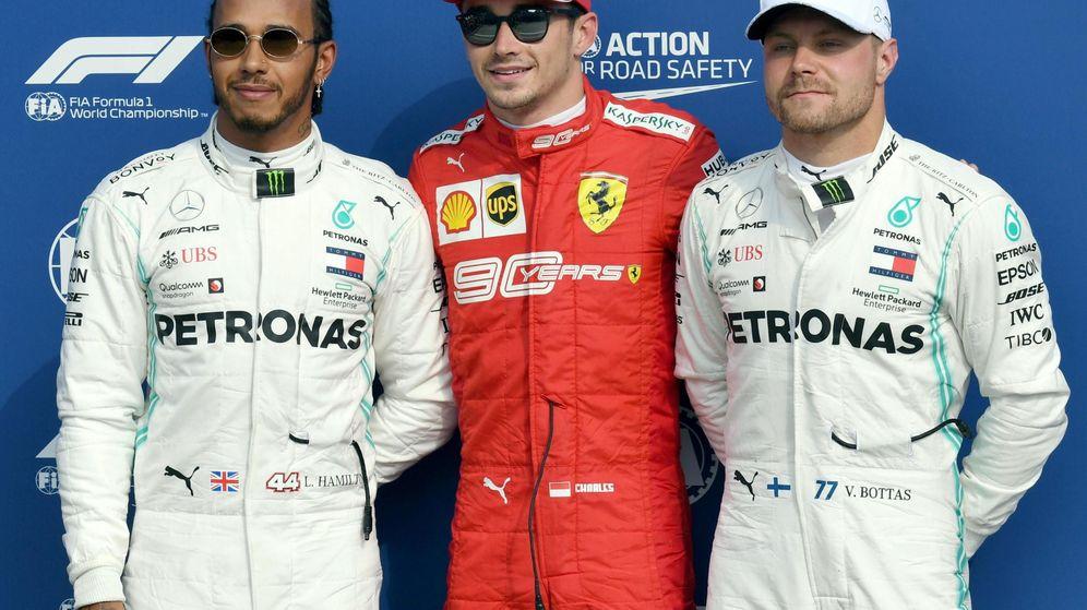 Foto: Leclerc se llevó la pole por delante de los Mercedes. (EFE)