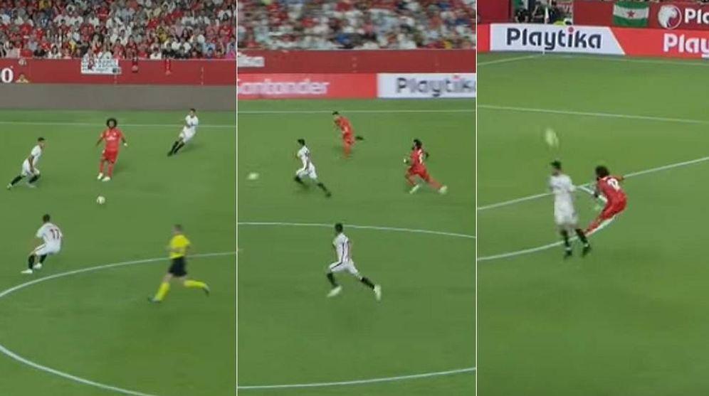 Foto: Marcelo, en los tres goles del Sevilla al Real Madrid.