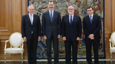 El rey recibe a los tres españoles que forman la cúpula del notariado mundial