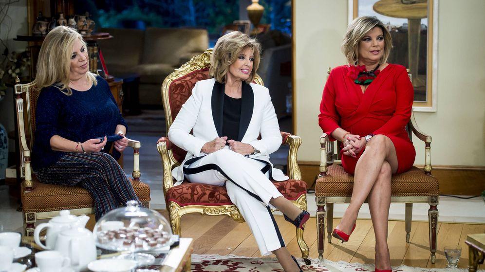 Foto: Carmen Borrego, María Teresa Campos y Terelu. (Mediaset)