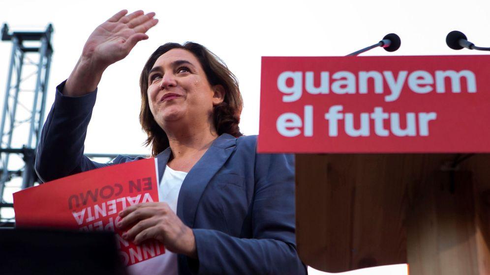 Foto: La alcaldesa de Barcelona y candidata a la reelección, Ada Colau, participa este jueves en el acto central de campaña de la ciudad condal. (EFE)