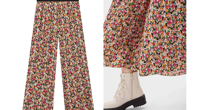 El pantalón culotte de Stradivarius. (Cortesía)