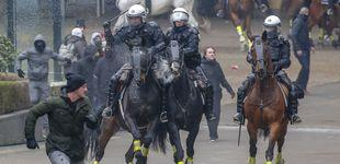 Post de 5.000 'ultras' marchan en Bruselas contra el pacto migratorio: 97 detenidos en disturbios