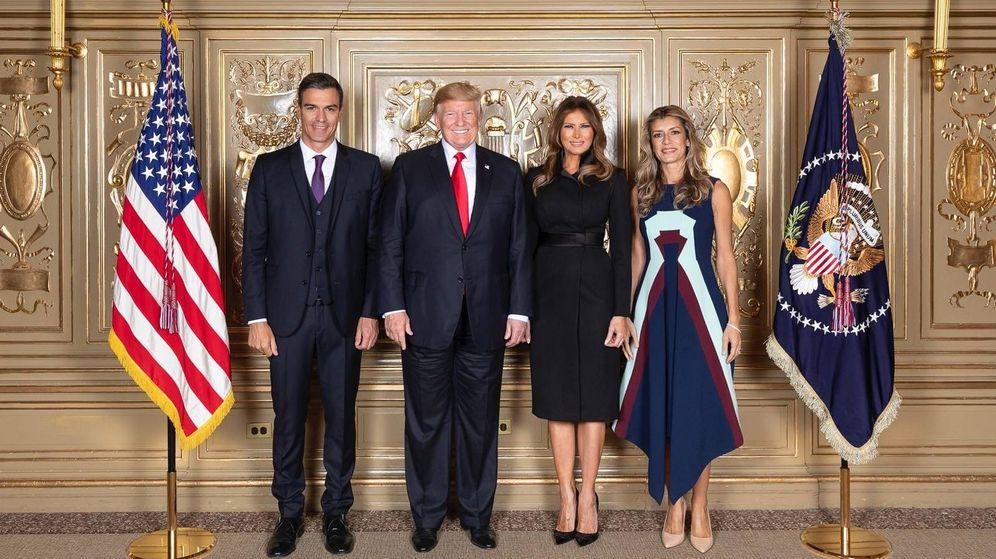 Foto: Foto de familia de los Sánchez y los Trump en Nueva York. (Oficial)