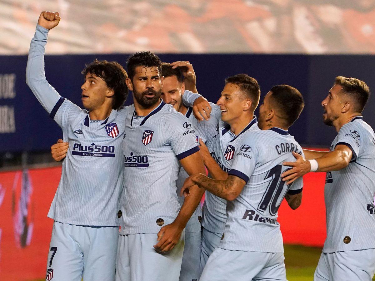 Foto: Félix celebra uno de los goles del Atlético (Reuters)