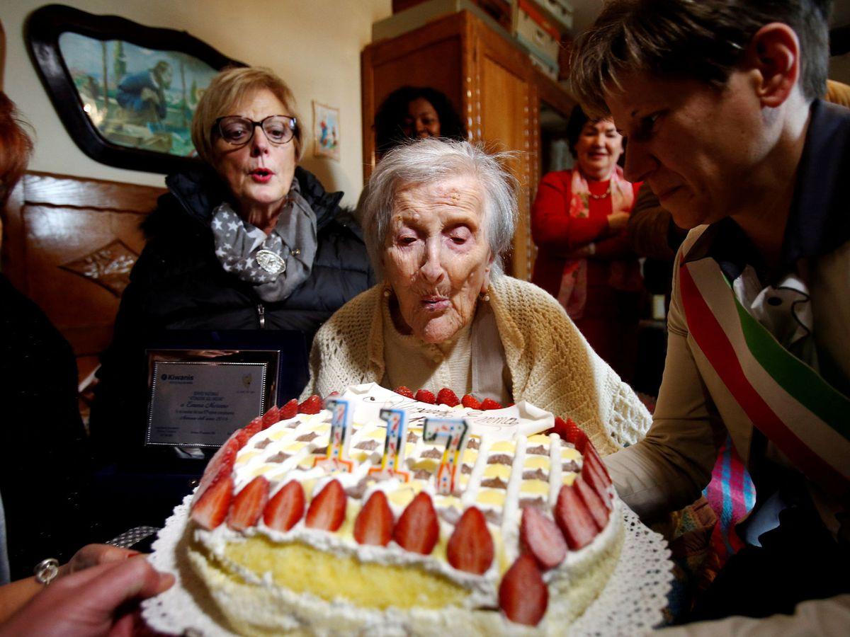 Foto: Emma Morano fue una supercentenaria italiana que sobrepasó los 117 años. (Reuters)
