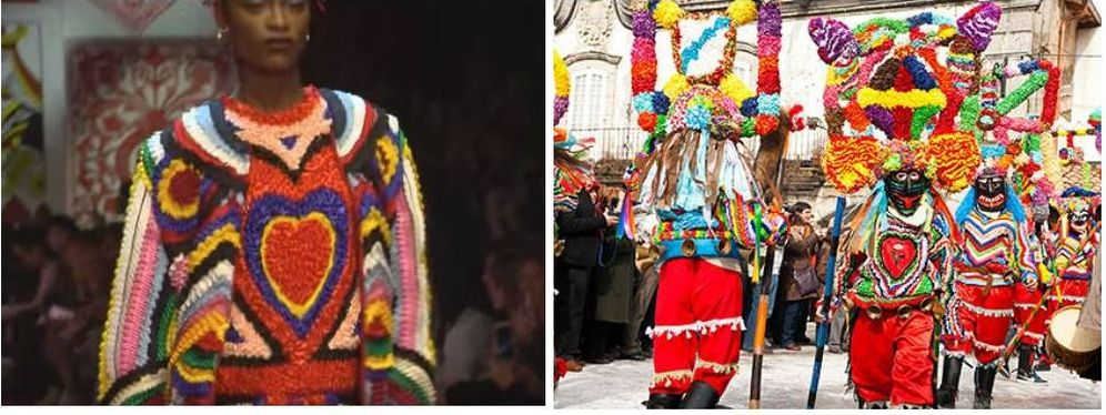 Foto: A la izquierda, el modelo de Dolce