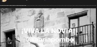 Post de María Pombo: su segundo look de novia y la alocada fiesta tras el enlace