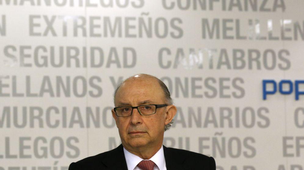 Foto: Cristóbal Montoro, ministro de Hacienda enfunciones, en el Comité Ejecutivo del PP del lunes (Efe)