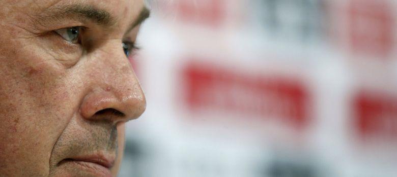 Foto: El técnico italiano Carlo Ancelotti, en rueda de prensa.