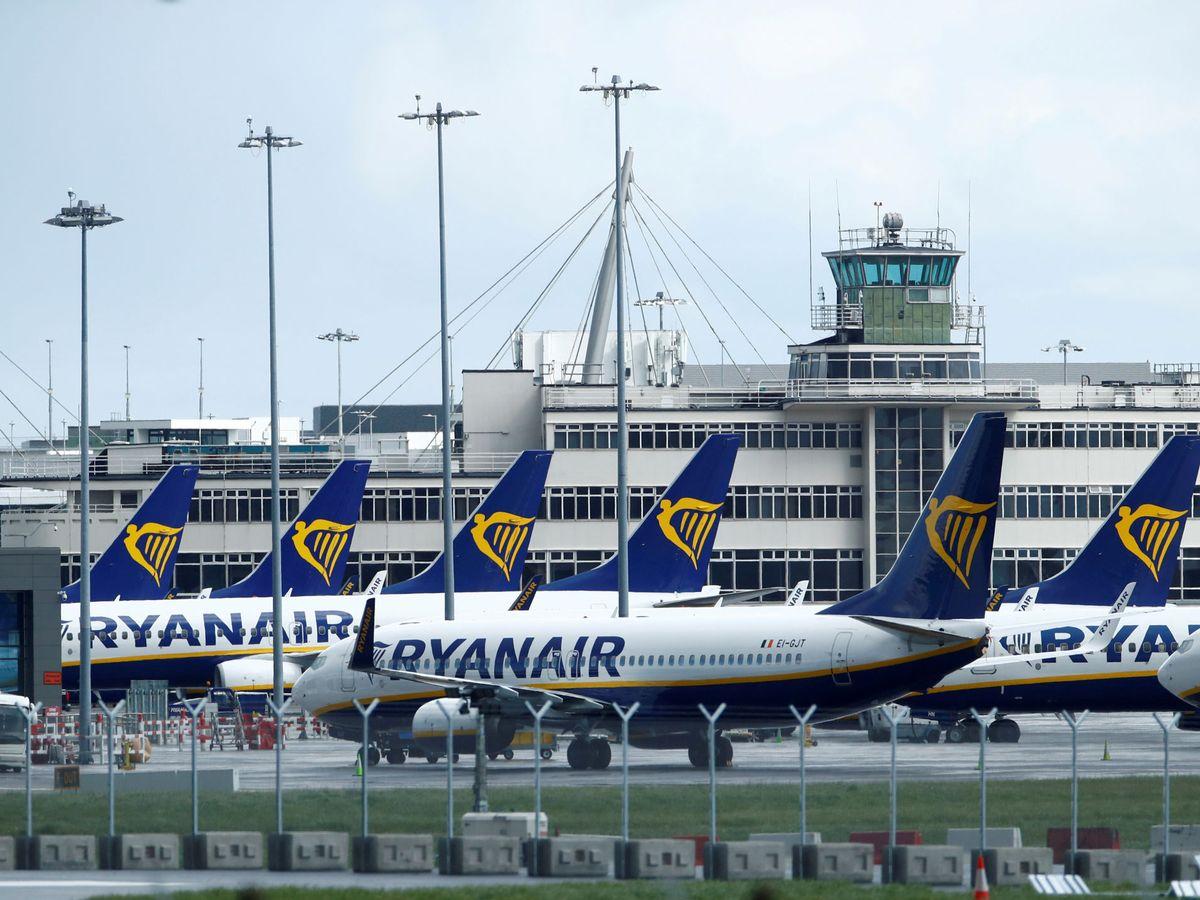 Foto: Aviones de Ryanair en tierra. (Reuters)