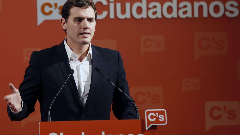 Foto: El presidente de Ciudadanos, Albert Rivera, en la sede del partido en Madrid. (EFE)