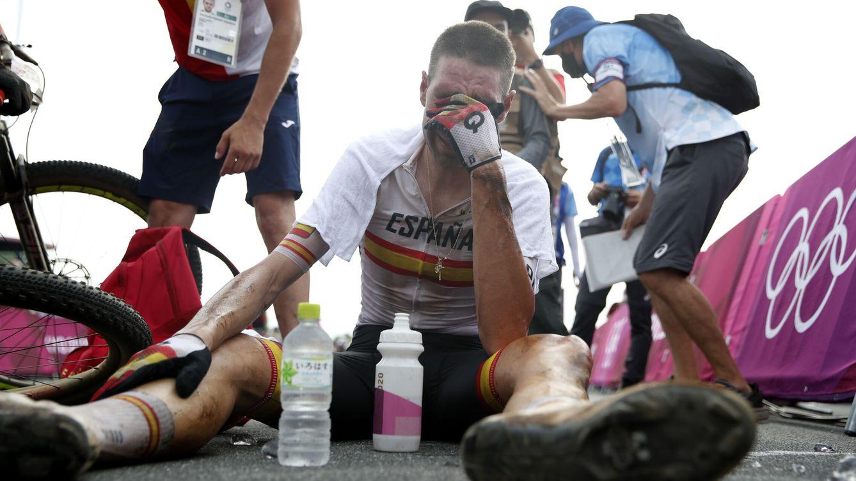 Foto: David Valero celebra entre lágrimas su medalla de bronce. (Reuters)
