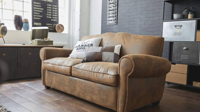 Sofá cama de Maisons du Monde para espacios reducidos. (Cortesía)