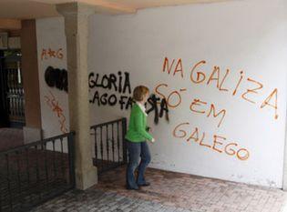 Foto: Gloria Lago, presidenta de Galicia Bilingüe, reclama a Feijóo protección ante los violentos