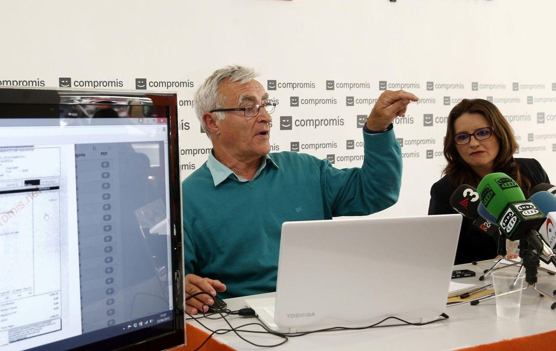 Joan Ribó junto a Mónica Oltra, de Compromís. (EFE)