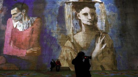 Los cuadros de Picasso, Goya y Sorolla proyectados en piedra caliza